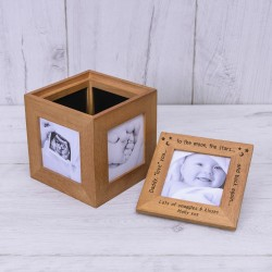 Daddy Love You Oak Photo Cube