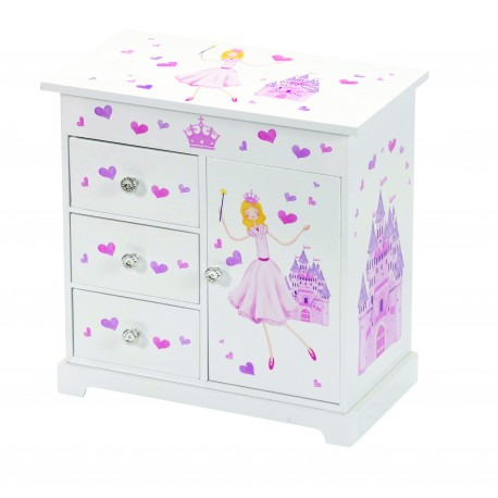 Princess & Castle Wardrobe Style Musical Jewel Case