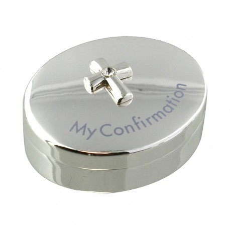 Silverplated Rosary Box - Confirmation