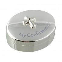 Silver-plated Rosary Box - Confirmation