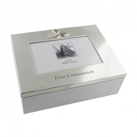 Keepsake Box & Frame - Silver-plated - First Communion