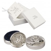 Twinkle Twinkle Silverplated First Tooth & Curl Keepsake Boxes