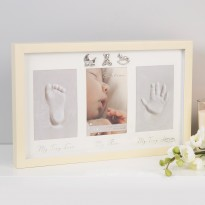 Bambino Keepsake Photo, Footprint & Handprint Frame