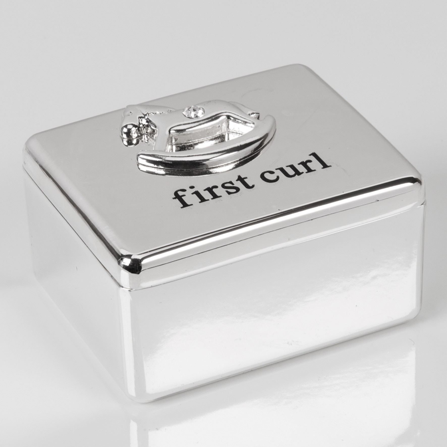 Bambino Silver Plated First Tooth /& Curl Box Set Blue