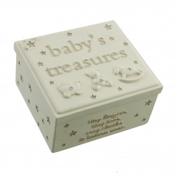 Bambino Resin Keepsake Box - Baby's Treasures