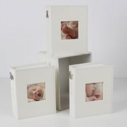Bambino Set Of 3 Fabric Photo Albums And Box