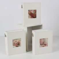 Bambino Set Of 3 Fabric Photo Albums And Box