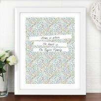 Personalised Botanical White Framed Poster Print