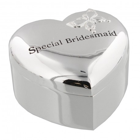 Amore Silverplated Keepsake Box - Special Bridesmaid