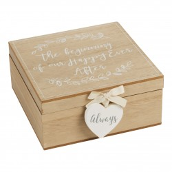 Love Story Happy Ever After Wedding Keepsake Box