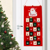 Personalised Pocket Santa Felt Advent Calendar