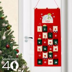 Personalised The Snowman and the Snowdog Felt Advent Calendar