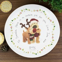 Personalised Boofle Christmas Reindeer Mince Pie Plate
