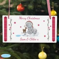 Personalised Me To You Reindeer Wooden Sign Keepsake