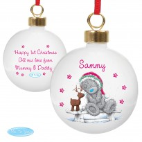 Personalised Me To You Reindeer Bauble & Christmas Keepsake