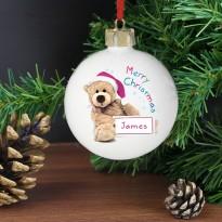 Personalised Teddy Christmas Bauble & Keepsake