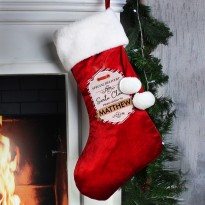 Personalised Special Delivery Luxury Christmas Stocking