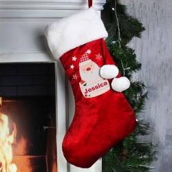 Personalised Pocket Santa Luxury Christmas Stocking and Keepsake