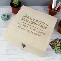 Personalised Grandad Large Wooden Keepsake Box