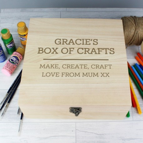 Personalised Craft Box Large Wooden
