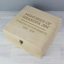 Personalised Memorial Wooden Keepsake Box