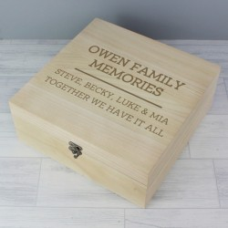 Personalised Family Memories Keepsake Box