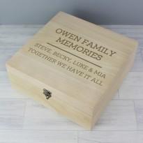 Personalised Family Memories Keepsake Box