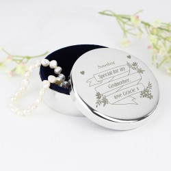 Personalised Garden Bloom Round Trinket Box
