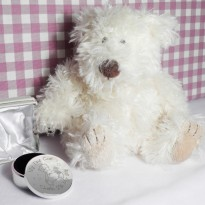 Personalised Teddy My First Curl Trinket Box