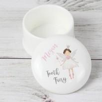 Personalised Tooth Fairy Ceramic Trinket Box