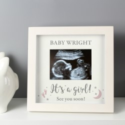 Personalised 'It's A Girl' 4 x 3 Baby Scan Frame