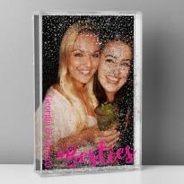Personalised Besties 6x4 Glitter Shaker Photo Frame