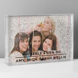 Personalised Classic 4x6 Glitter Shaker Photo Frame
