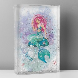 Personalised Mermaid Glitter Shaker Photo Frame