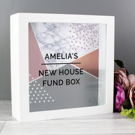 Personalised Geometric Fund and Keepsake Box