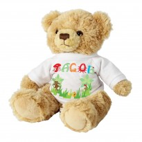 Personalised Animal Name T-Shirt Message Bear