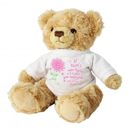 Personalised 'I'd Pick You' Message Bear