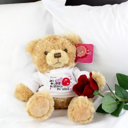 Personalised Monster Heart Message Bear