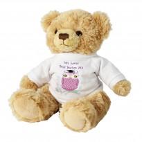 Personalised Miss Owl Teacher Message Bear