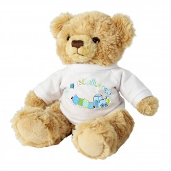 Personalised Patchwork Train Message Bear