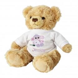 Personalised Cotton Zoo Bobbin the Bunny Teddy