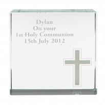 Personalised Cross Large Crystal Token