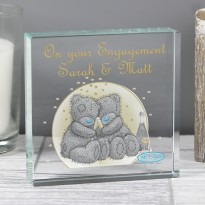 Personalised Me To You Gold Stars Large Crystal Token