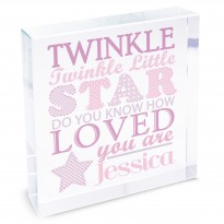 Personalised Twinkle Girls Large Crystal Token