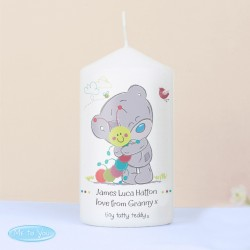Personalised Tiny Tatty Teddy Cuddle Bug Candle
