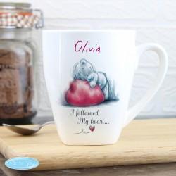 Personalised Me To You Heart Latte Mug