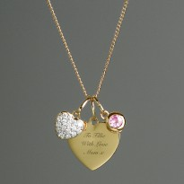 Personalised Sterling Silver and 9ct Gold Heart Necklace