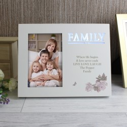 Personalised Family Floral 4x6 Light Up Frame