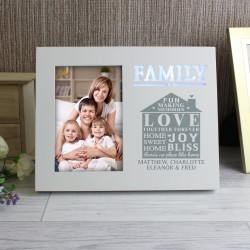 Personalised Family Typography 4x6 Light Up Frame