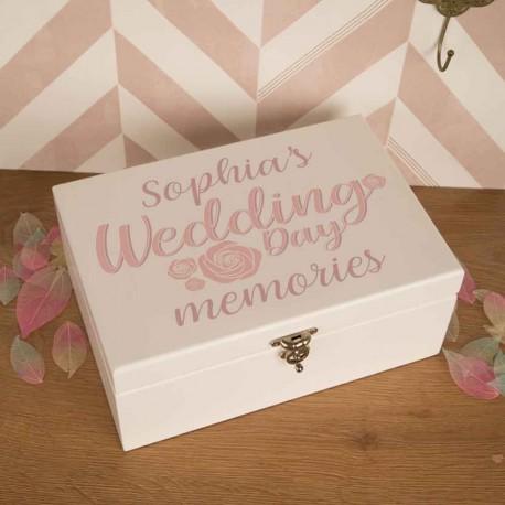 Bride Personalised Luxury Wedding Keepsake Box Wedding Keepsake Box